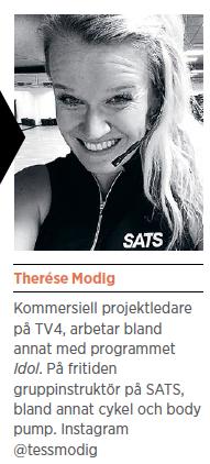 Therése Modig reflektion Endorfiner Mattias Svensson Motion gör dig smartare Tänk att man kan springa ifrån så många problem löpning träning cykel SATS Neo nr 6 2014 presentation
