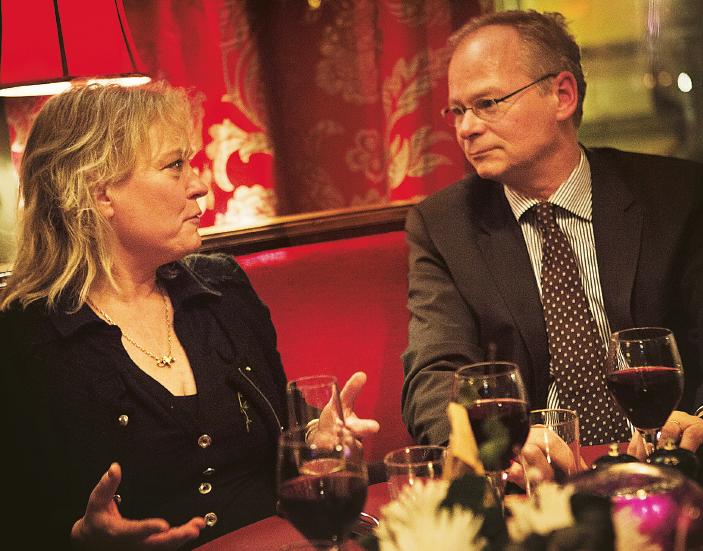– Vi behöver en Sverigestrategi! Vi har ju tappat all utvecklingsförmåga. Vad lever vi på? undrar Lotta Gröning. Foto: Annika Berglund