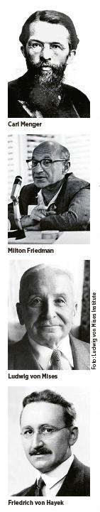 Benjamin Juhlin Chicagoskolan Österrikiska skolan konjunkturteori Carl Menger Friedrich Hayek Ludwig von Mises  Milton Friedman Murray Rothbard Neo nr 2 2015