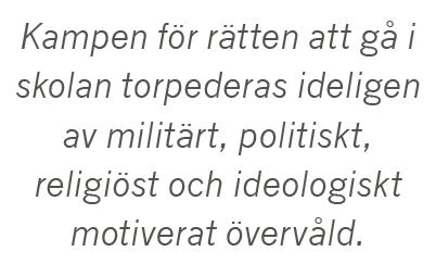 Lisbeth Lindeborg Kampen för skolan  Malala Yousafzai Ayaan Hirsi Ali Neo nr 2 2015 citat