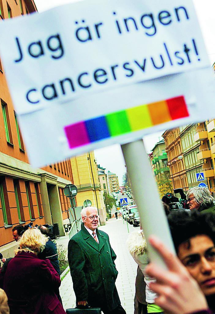 Demonstration mot Åke Green 2005. Foto: Nils Petter Nilsson  / SCANPIX