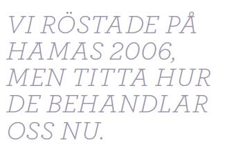 Björn Brenner Gaza i botten Neo nr 2 2012 citat
