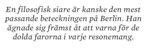 Isaiah Berlin Gina Gustavsson essä Neo nr 5 2011 citat4