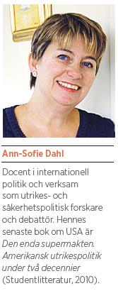 Ann-Sofie Dahl USA eller kaos Barack Obama Neo nr 5 2011 pres