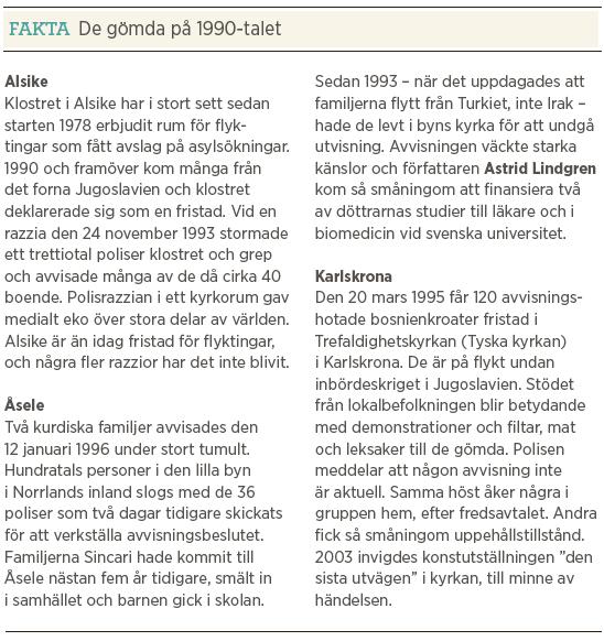 Mattias Svensson Världen utanför papperslösa reva flyktinggömmare Dublin Neo nr 1 2013 fakta 90-tal