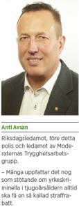 Brott och straff och politik Andreas Ericson Neo nr 2 2013 Johan Linander Caroline Szyber Johan Pehrson Anti Avsan AA