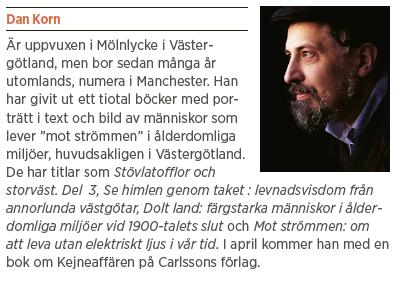 Dan Korn Ett riktigt original essä Neo nr 2 2013 Erik Wahlstrand Dan Korn fakta