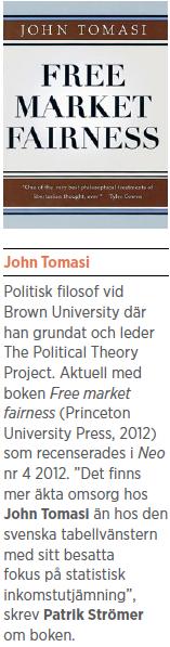 John Tomasi Free market fairness intervju Neo nr 6 2012  boken