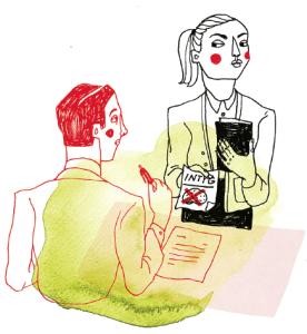 """– På sociologutbildningen – de är värst – kom en student med intyg på att hon hade """"dåligt minne"""" och därför behövde få lärarens assistans med precis de passager som var relevanta för proven. Studenten verkade ha stor vana att diskutera sin diagnos. När jag försiktigt invände att det vore en orättvis särbehandling kom svaret: """"Och hur rättvist är det att jag har dåligt minne då!  Illustratör: Kristin Lidström"""