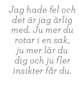Intervju Ulf Ottosson Fredrik Westerlund centern snus Arjeplog Neo nr 3 2013 citat