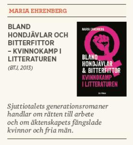 Hanna Lager recenserar Bland hondjävlar och bitterfittor – kvinnokamp i litteraturen Neo nr 3 2013