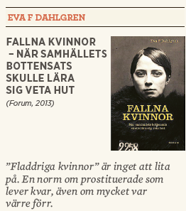 Hanna Lager recension Neo nr 5 2013 Eva F Dahlgren Fallna kvinnor  – när samhällets bottensats skulle lära sig veta hut