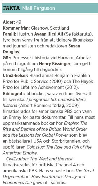 Niall Ferguson intervju Paulina Neuding västvärlden Neo nr 5 2013 fakta