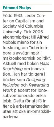 Edmund Phelps Mattias Svensson Neo nr 6 2013 Mass Flourishing intervju presentation