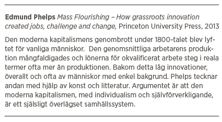 Edmund Phelps Mattias Svensson Neo nr 6 2013 Mass Flourishing intervju boken