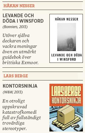 Håkan Nesser Levande och döda i Winsford Lars Berge Kontorsninja recension Linda Skugge Neo nr 6 2013