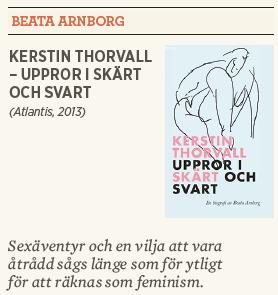 Kerstin thorvall uppror i skärt och svart Beata Arnborg recension Hanna Lager Neo nr 6 2013