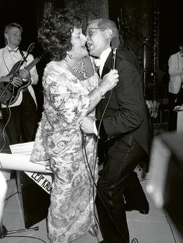 Birgit Nilsson och Jan Malmsjö i ett uppträdande från Nobelfesten 1986. Foto: Anders Holmström / TT