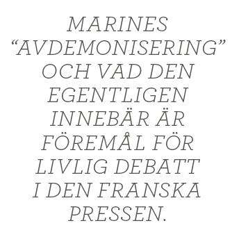 Ester Nylöf Ett mindre jävligt nationalistparti Front national Neo nr 1 2014 Marine Le Pen citat