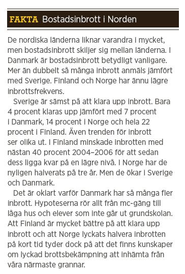 Mattias Svensson inbrott polisen Fredrik Gårdare, Håkan Franzén, Anders Burén Neo nr 1 2014 Fakta inbrott Norden Finland Norge Danmark