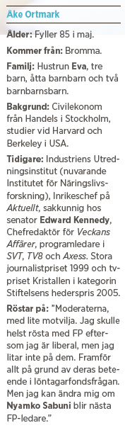 Åke Ortmark Paulina Neuding intervju Wallenberg O:na Erlander Neo nr 1 2014 fakta