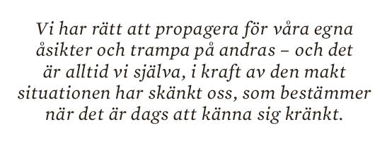 Dick Harrison essä Kränkta av fakta Neo nr 1 2014 citat6