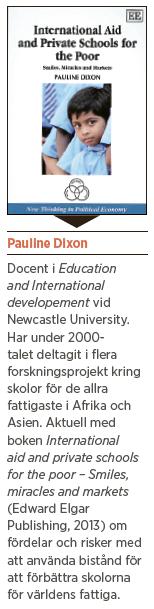 Pauline Dixon interview private schools for the poor privatskolor för fattiga barn Mattias Svensson Neo nr 1 2014 fakta