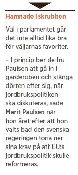 Marit Paulsen väljarfavorit EU-val Mattias Svensson Fredrick Federley Per Gahrton Jonas Sjöstedt Neo nr 1 2014 i garderoben CAP jordbrukspolitik