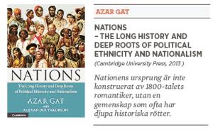 Daniel nilsson recension Azar Gat Nations Neo nr 2 2014 primordialism nationalism förintelsen