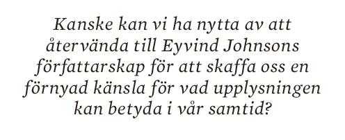 Torbjörn Elensky essä Eyvind Johnson Neo nr 2 2014