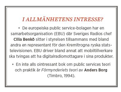 Fredrik Johansson krönika public service civilsamhälle Neo nr 2 2014 Anders Borg