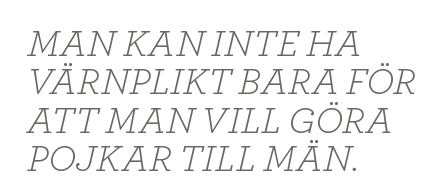 Mikael Odenberg Neo nr 3 2014 Bagdad Bob Anders Borg Fredrik Reinfeldt försvar värnplikt Nato budget citat2