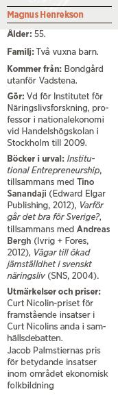 Magnus Henrekson välfärd vinst skola klassresa invandring integration Neo nr 4 2014 info