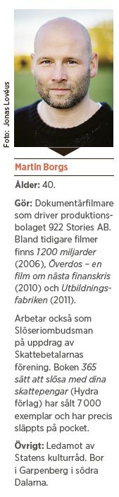 Martin Borgs Någon annan betalar 365 sätt att slösa med dina skattepengar Hydra  Neo nr 4 2014 presentation
