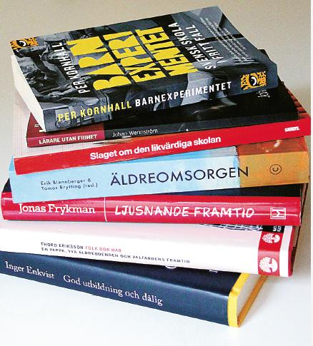 """""""Flera av dessa skrifter har ett annat innehåll än den vanliga mediedramaturgin."""" Patrik Strömer har läst debattböcker om skola och äldreomsorg."""