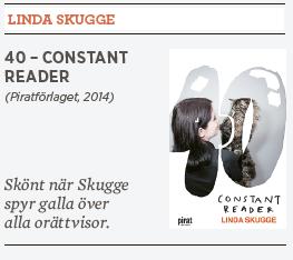 Hanna Lager recension Linda Skugge 40 constant reader Neo nr 4 2014