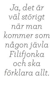 Andreas Ericson intervju Sanna Rayman filifjonka Alliansen nya moderaterna borgerlighet Aftonbladet ledarsida Neo nr 4 2014 citat