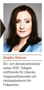 Birgitta Ohlsson folkpartiet demokratiminister Ivar Arpi Vänsterns goda fina hat Neo nr 5 2014