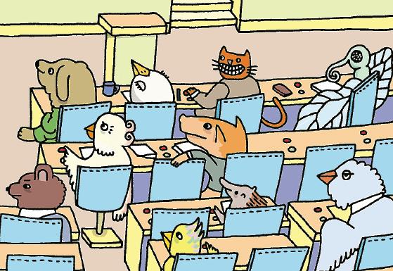 Särskilt kring lunchborden i restaurang Strömmen traderas dagens noteringar på skvallerbörsen, som tur är utom hörhåll för riksdagsjournalisterna som föredrar att äta med varandra i den billigare brickmatsalen. Illustration: Gunilla Hagström / Form Nation