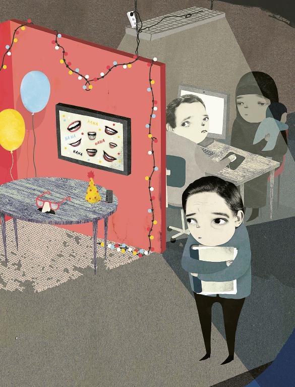 I stället för att lyssna på kritiken anställde enheten ett friskvårdsombud som startade ett trivselprojekt. Illustration: Emma Hanquist/ Form Nation