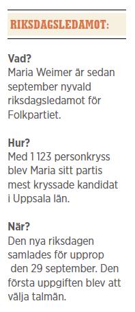 Maria Weimer Folkpartiet Uppsala Neo nr 6 2014 testar