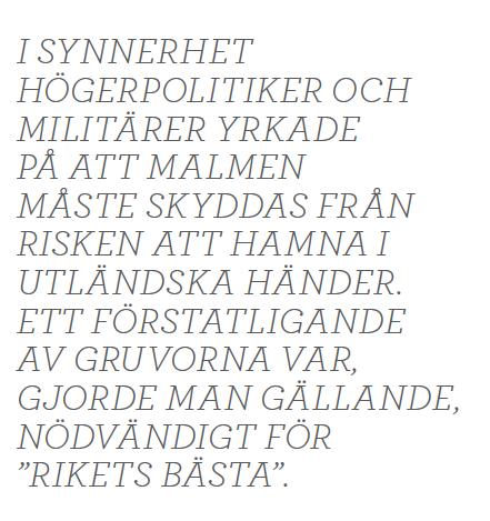 Dick Harrison gruvfrun Bergslagen järn malm Norrland  Sala LKAB Neo nr 6 2014 citat1