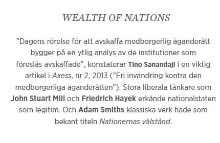Hans Bergström krönika migration tiggare nationen Göran Hägglund Ska Sverige finnas? Neo nr 1 2015