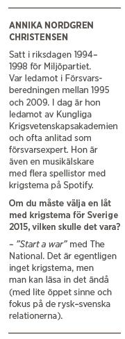 Ivar Arpi intervju Annika Nordgren Christensen försvar chemtrails Miljöpartiet Margot Wallström Fredrik Reinfeldt ÖB Stefan Löfven Peter Hultqvist Neo nr 1 2015 bakgrund