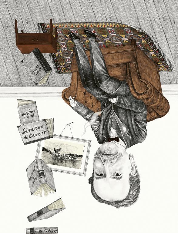 Tanken hos kulturrelativismens upphovsman Franz Boas är att när man trängt igenom den annorlunda livsstilen, kulturen, är den mänskliga naturen densamma. Illustration: Annelie Carlström / Agent Bauer