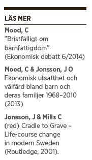 Carina Mood sociologi barnfattigdom Benjamin Juhlin Neo nr 1 2015