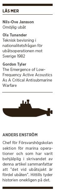 Manualen u-båtar aktiv passiv sonar försvar skärgården Neo nr 1 2015