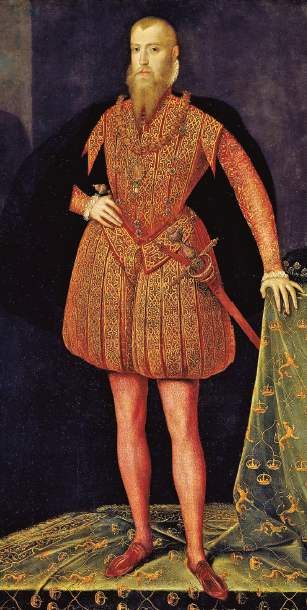 """Erik XIV anställde massmord på vapenföra män, kvinnor och barn i Ronneby 1564 i vad som gått till historien som """"Ronneby blodbad"""". Sentida kungabiografier är noterbart urskuldande. Bild: Nationalmuseum Stockholm / Wikimedia Commons"""