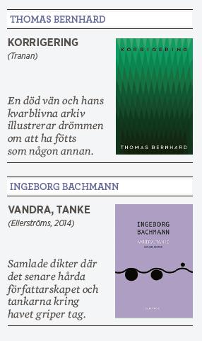 Maxim Gregoriev recension Thomas Bernhard Korrigering Tranan Ingeborg Bachmann Vandra, tanke Ellerströms 2014 Neo nr 2 2015 Svartsynt motståndskraft Österrike