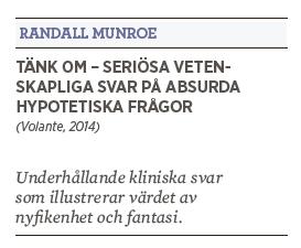 Patrik Strömer recension Randall Munroe Tänk om – Seriösa vetenskapliga svar på absurda hypotetiska frågor Volante 2014  XKCD Neo nr 2 2015
